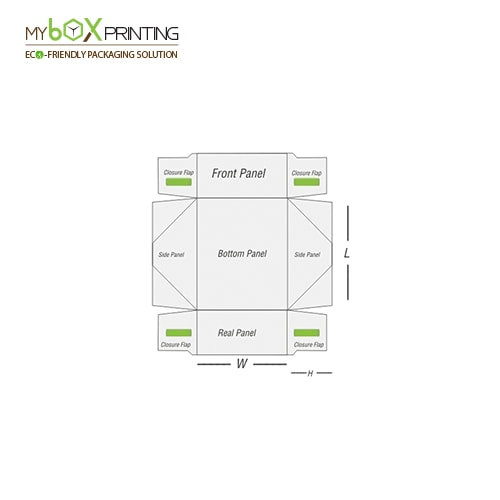 Four Corner Tray Design Template